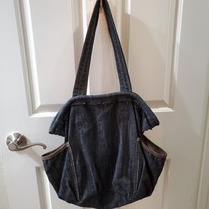 Thirty-one roomy denim tote with pockets